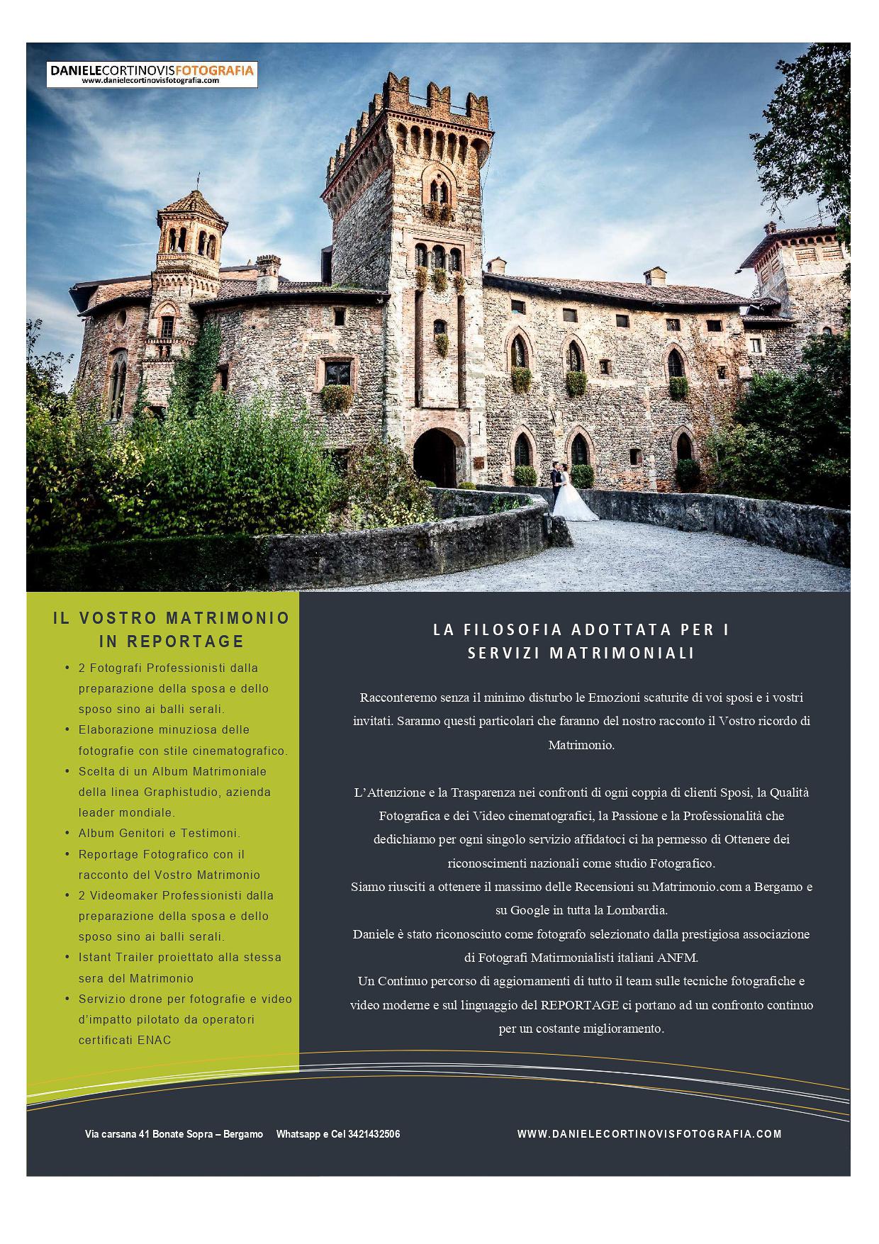 Prezzi fotografo Matrimonio Bergamo